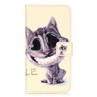 Emotive PU kožené pouzdro na mobil Honor 7 Lite - kočka