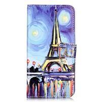 Emotive PU kožené pouzdro na mobil Honor 7 Lite - Eiffelovka