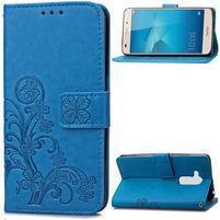 Buttefly PU kožené pouzdro na mobil Honor 7 Lite  - modré