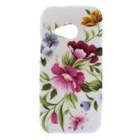 Gélový kryt na HTC One mini 2 - květiny