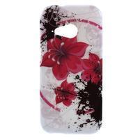 Gélový kryt pre HTC One mini 2 - červené kvetiny