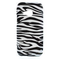 Gélový kryt pre HTC One mini 2 - zebra