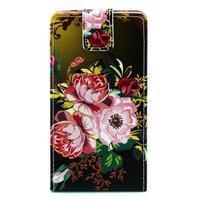 Flipové puzdro pre Huawei Ascend P8 - kvitnúce kvety
