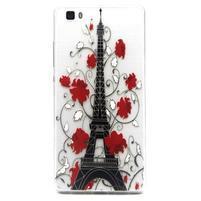 Transparentné gélový obal na Huawei Ascend P8 Lite - Eiffelova veža