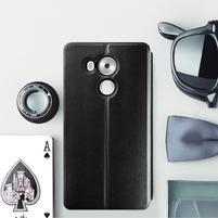 Vintage PU kožené pouzdro na mobil Huawei Mate 8 - černé