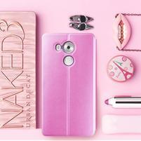 Vintage PU kožené puzdro na mobil Huawei Mate 8 - ružové