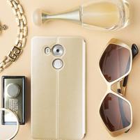 Vintage PU kožené puzdro na mobil Huawei Mate 8 - zlaté