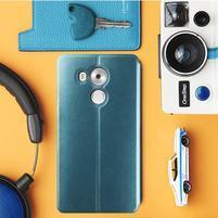 Vintage PU kožené puzdro na mobil Huawei Mate 8 - modré