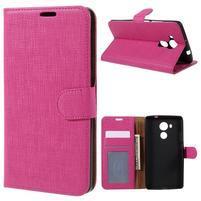 Clothy PU kožené puzdro na Huawei Mate 8 - rose