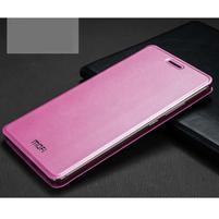 Vintage PU kožené puzdro s kovovou výstuhou na Huawei Mate S - ružové