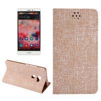 Style knižkové puzdro na mobil Huawei Mate S - oranžovohnedé