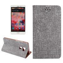 Style knížkové pouzdro na mobil Huawei Mate S - šedé