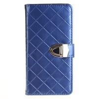 Luxury PU kožené peňaženkové puzdro na Huawei P9 Lite - modré