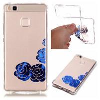 Lacqe geový obal na Huawei P9 Lite - modré růže