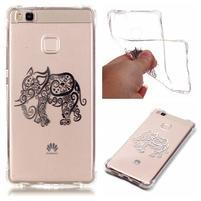 Lacqe geový obal na Huawei P9 Lite - slon