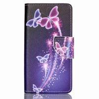 Patter PU kožené puzdro na mobil Huawei P9 Lite - čarovné motýle