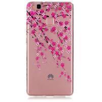 Transparentní obal na telefon Huawei P9 Lite - kvetoucí třešeň