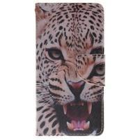 Lethy knižkové puzdro na telefon Huawei P9 Lite - gepard