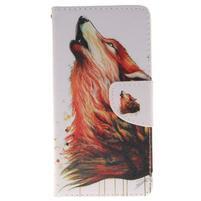 Lethy knížkové pouzdro na telefon Huawei P9 Lite - mýtický vlk