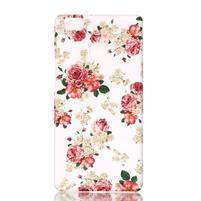 Shelly gelový obal na mobil Huawei P9 Lite - květiny
