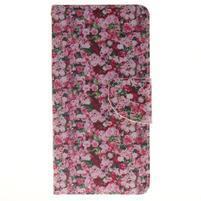 Lethy knižkové puzdro na telefon Huawei P9 Lite - koláž ruží