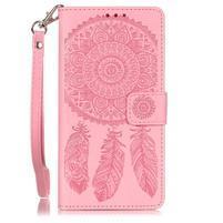 Dreaming PU kožené puzdro na Huawei P9 Lite - ružové