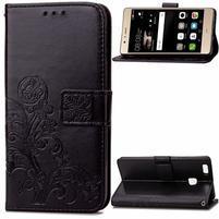 Cloverleaf penženkové puzdro na Huawei P9 Lite - čierne