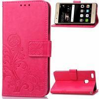 Cloverleaf penženkové pouzdro na Huawei P9 Lite - rose
