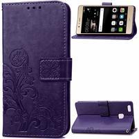 Cloverleaf peňaženkové puzdro na Huawei P9 Lite - fialové