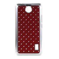 Drahokamový kryt na Huawei Y635 - červený