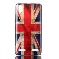 Jelly gelový obal na mobil Lenovo A6000 - UK vlajka