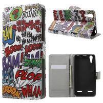 Emotive peňaženkové puzdro pre mobil Lenovo A6000 - boom