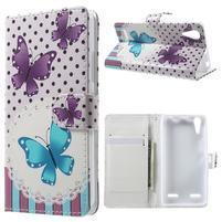 Emotive peňaženkové puzdro pre mobil Lenovo A6000 - motýľe