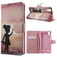 Emotive peňaženkové puzdro pre mobil Lenovo A6000 - dievčatko