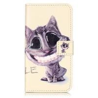 Knížkové puzdro pre mobil Lenovo Vibe K5 / K5 Plus - mačka