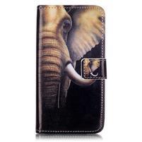 Knížkové puzdro pre mobil Lenovo Vibe K5 / K5 Plus - slon