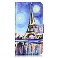 Knížkové puzdro pre mobil Lenovo Vibe K5 / K5 Plus - Eiffelova veža