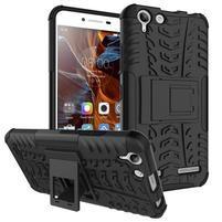 Outdoor odolný obal pre mobil Lenovo Vibe K5 / K5 Plus - čierny