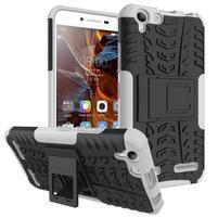 Outdoor odolný obal na mobil Lenovo Vibe K5 / K5 Plus - bílý
