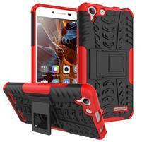 Outdoor odolný obal pre mobil Lenovo Vibe K5 / K5 Plus - červený