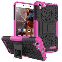 Outdoor odolný obal pre mobil Lenovo Vibe K5 / K5 Plus - rose