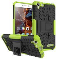 Outdoor odolný obal pre mobil Lenovo Vibe K5 / K5 Plus - zelený