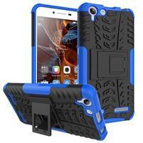 Outdoor odolný obal pre mobil Lenovo Vibe K5 / K5 Plus - modrý