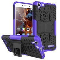 Outdoor odolný obal pre mobil Lenovo Vibe K5 / K5 Plus - fialový