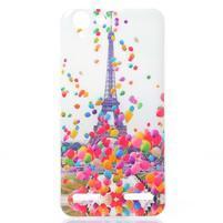 Softy gélový obal pre mobil Lenovo Vibe K5 / K5 Plus - Eiffelova veža
