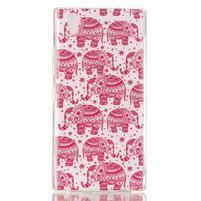 Softy gélový obal pre mobil Lenovo P70 - ružoví slony