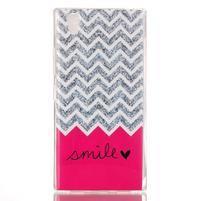 Softy gélový obal pre mobil Lenovo P70 - smile