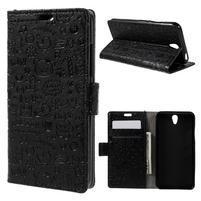 Cartoo peňaženkové puzdro pre Lenovo Vibe S1 - čierné