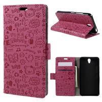 Cartoo peňaženkové puzdro pre Lenovo Vibe S1 - rose