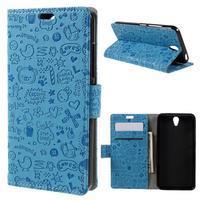 Cartoo peněženkové pouzdro na Lenovo Vibe S1 - modré